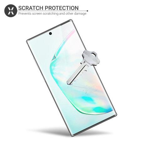 Olixar Samsung Anmerkung 10 Plus-Film-Schirm-Schutz 2-in-1-Pack