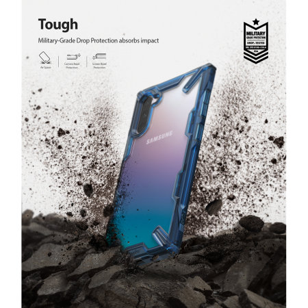 Ringke Fusion X Samsung Galaxy Note 10 Case - Space Blue