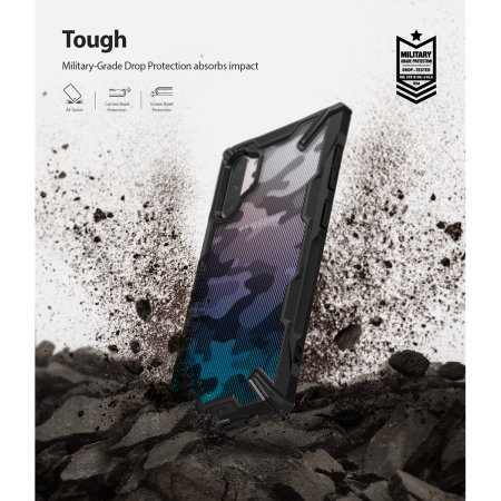Ringke Fusion X  Design Samsung Galaxy Note 10 Plus Case - Camo Black