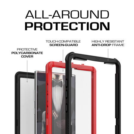 Ghostek Nautical 2 Samsung Galaxy Note 10 Plus Waterproof Case - Red