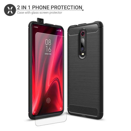 Olixar Sentinel Xiaomi K20 Pro Hülle & Glasfolie - Schwarz
