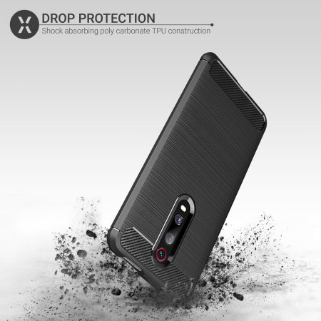 Olixar Sentinel Xiaomi K20 Pro Case and Glass Screen Protector - Black