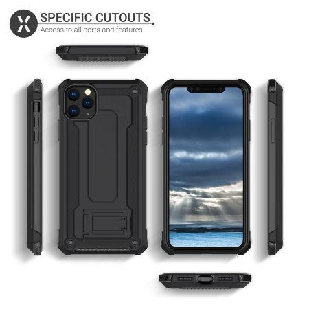 iPhone 11 Pro Olixar Manta Case Gehard Glazen Schermbeschermer - Zwart