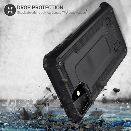 Funda iPhone 11 Olixar Manta con Protector de Pantalla - Negra