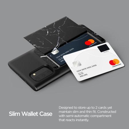 VRS Design Damda Glide Shield Samsung Note 10 Case - Black Marble