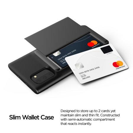 VRS Design Damda Glide Shield Samsung Note 10 Case - Steel Silver