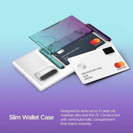 VRS Design Damda Glide Shield Samsung Note 10 Case - Green/Purple
