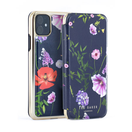 Ted Baker Folio Hedgerow iPhone 11 Case - Midnight Purple