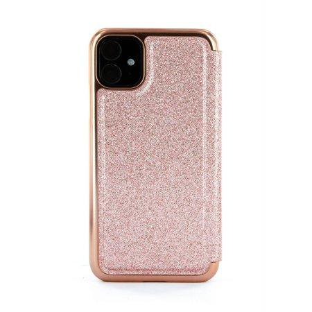 Ted Baker Folio Glitsie iPhone 11 Flip Mirror Case - Pink