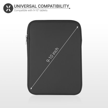 "Olixar Universal 9-10""  Neoprene Tablet Sleeve - Black"