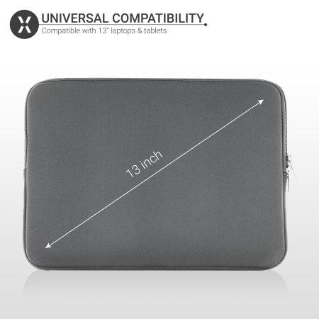 "Olixar Universal Neoprene Laptop and Tablet Sleeve 13"" - Grey"