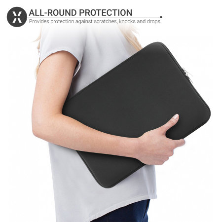 "Olixar Universal  Neoprene Laptop Sleeve 15"" - Black"