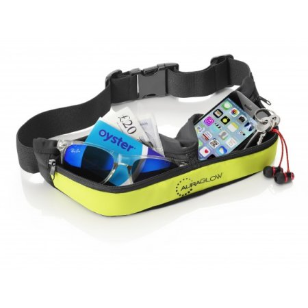 Auraglow Rechargeable High Visibility LED Running Belt Green