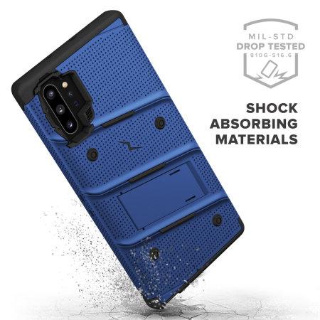 Zizo Bolt Samsung Note 10 Plus Tough Case - Blue/Black