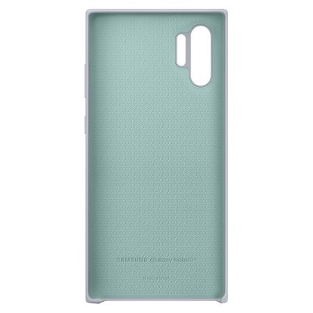 Offizielle Galaxy Note 10 Plus 5G Silicone Cover Hülle - Silber