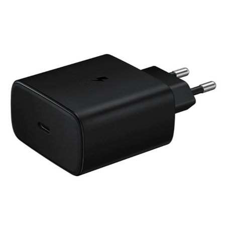 Official Samsung PD 45W Fast Wall Charger - EU Plug - Black