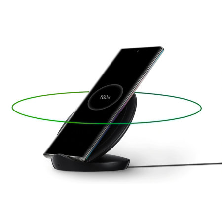 Official Samsung Qi Fast 9W Wireless Charger Stand - Black