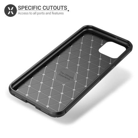 Olixar Google Pixel 4 XL Carbon Fibre Protective Case - Black