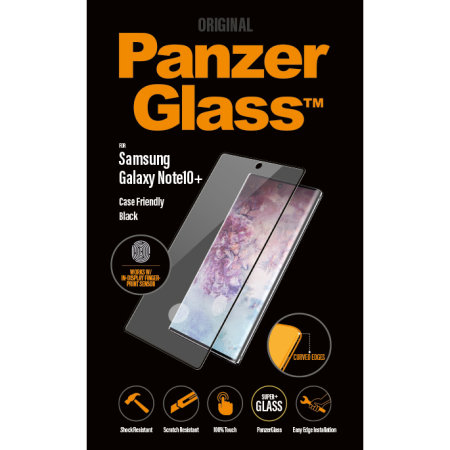 PanzerGlass Samsung Galaxy Note 10 Plus Screen Protector - Black