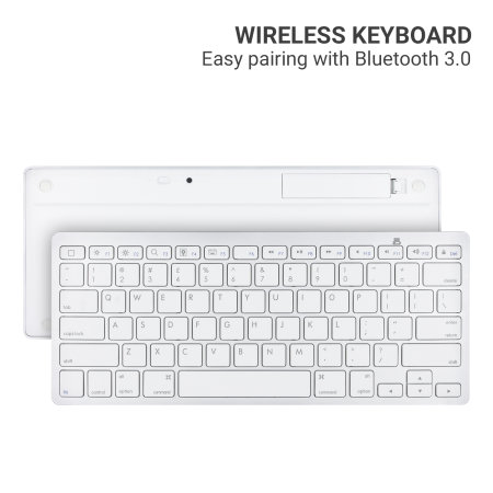 LMS Data Universal Smartphone & Tablet Bluetooth 3.0 QWERTY Keyboard