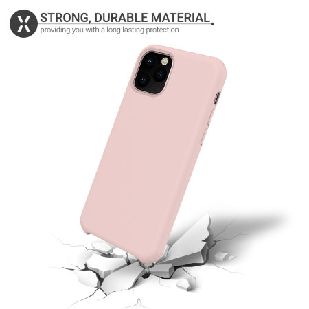 Funda iPhone 11 Pro Max Olixar Soft Silicone - Rosa Pastel