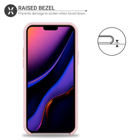 Olixar Soft Silicone iPhone 11 Pro Max Case - Pastel Pink