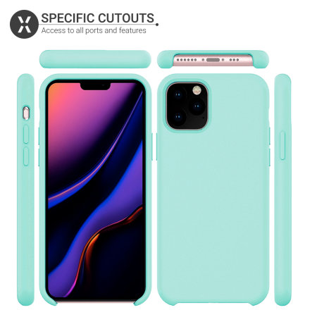 Olixar Soft Silicone iPhone 11 Pro Max Case - Pastel Green