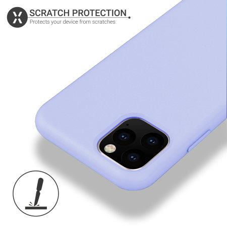 Funda iPhone 11 Pro Max Olixar Soft Silicone - Lila