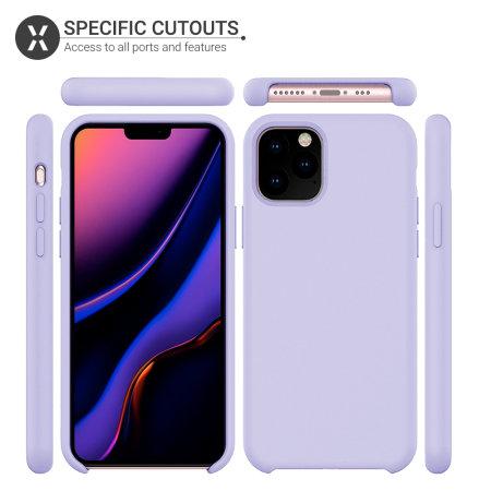 Olixar Soft Silicone iPhone 11 Pro Max Case - Lilac
