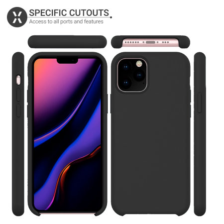 Funda iPhone 11 Pro Max Olixar Soft Silicone - Negra