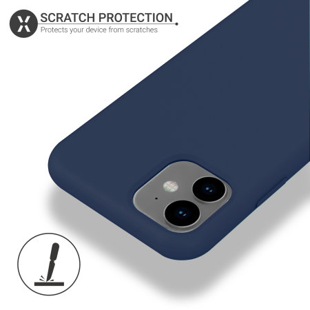 Olixar Soft Silicone iPhone 11 Case - Midnight Blue