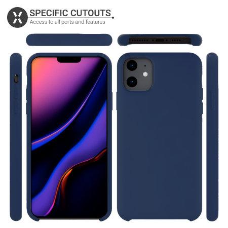 Olixar Soft Silicone iPhone 11 Case - Midnight Blue