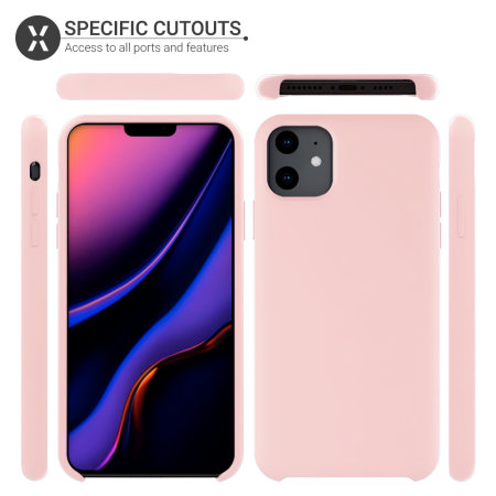 Olixar Soft Silicone iPhone 11 Case - Pastel Pink
