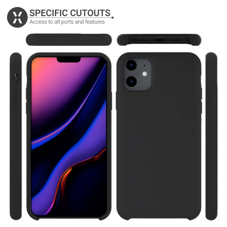 Olixar Soft Silicone iPhone 11 Case - Black