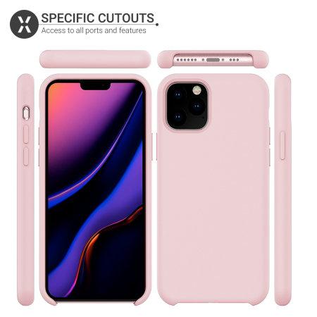 Olixar Soft Silicone iPhone 11 Pro Case - Pastel Pink