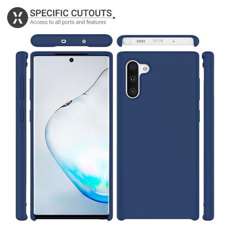 Olixar Samsung Galaxy Note 10 Soft Silicone Case - Midnight Blue