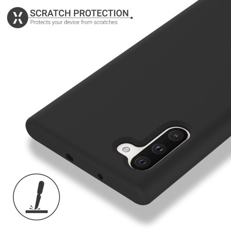 Olixar Samsung Galaxy Note 10 Soft Silicone Case - Black