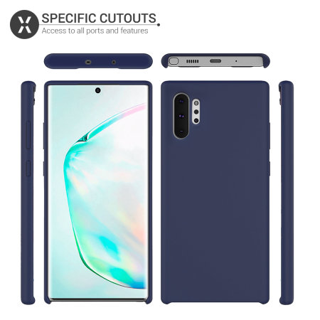 Olixar Samsung Galaxy Note 10 Plus Soft Silicone Case - Midnight Blue