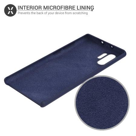 Olixar Samsung Galaxy Note 10 Plus Soft Silicone Case - Midnight Blue