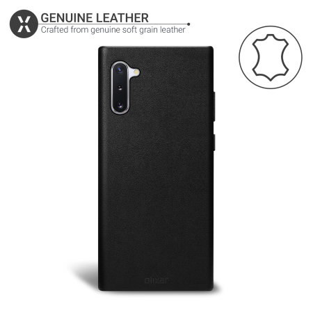 Olixar Genuine Leather Samsung Galaxy Note 10 Case - Black