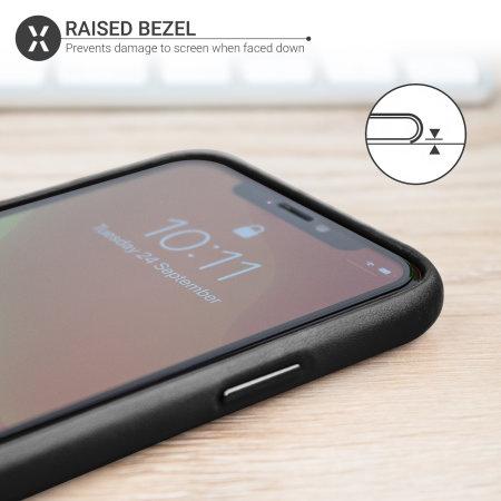 Olixar Genuine Leather iPhone 11 Pro Max Case - Black