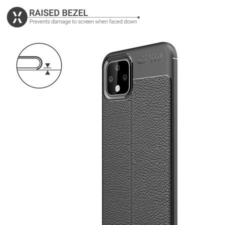 Olixar Attache Google Pixel 4 XL Leather-Style Case - Black