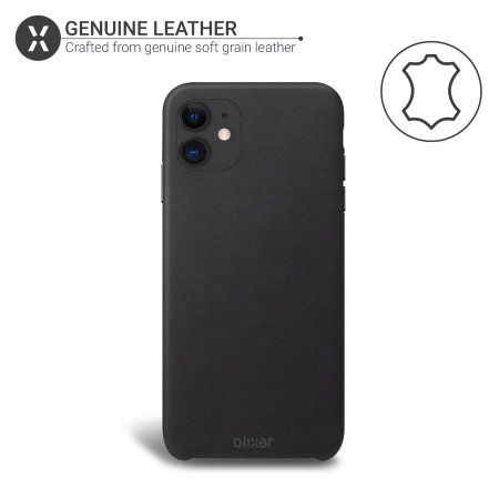 Olixar Genuine Leather iPhone 11 Case - Black