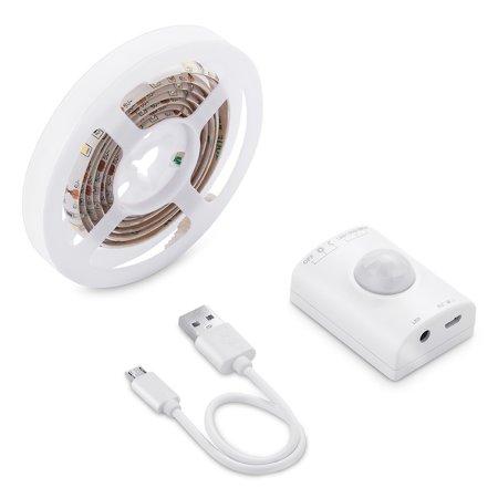 Auraglow Rechargeable Motion Sensor 30 LED 1M Strip Light