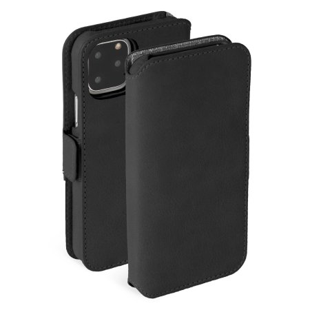 Krusell iPhone 11 Pro Max 2-in-1 Leather Wallet Case - Vintage Black