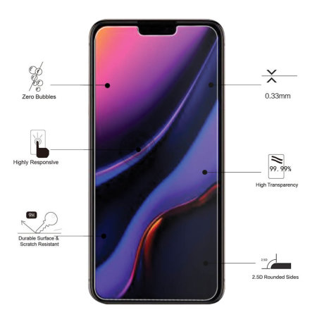 Eiger 2.5D iPhone 11 Pro Max Glass Screen Protector - Clear