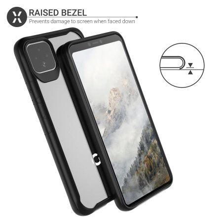 Olixar NovaShield Google Pixel 4 Bumper Case - Black
