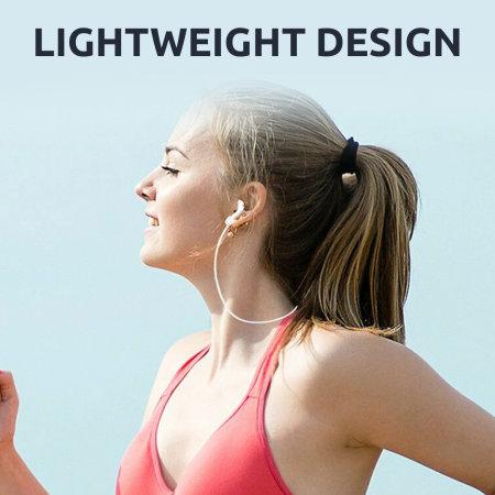 Olixar Soft Silicone Anti-Loss AirPods EarPhone Strap - White