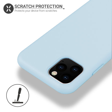 Olixar Soft Silicone iPhone 11 Pro Max Case - Pastel Blue