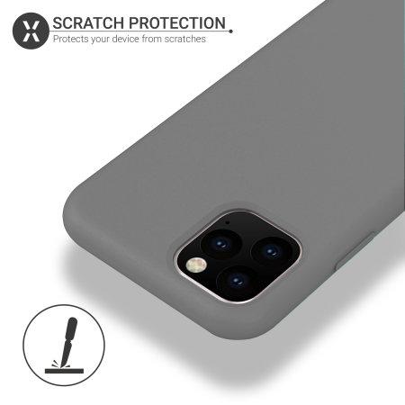 Olixar Soft Silicone iPhone 11 Pro Max Case - Grey